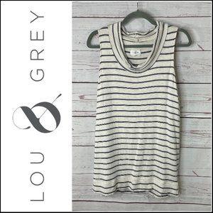 *3/$18*Lou & Grey Striped Turtle Neck Tank Top